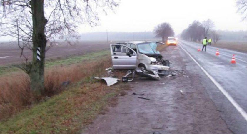 ВКалинковичском районе влобовом ДТП умер шофёр Дэу Matiz