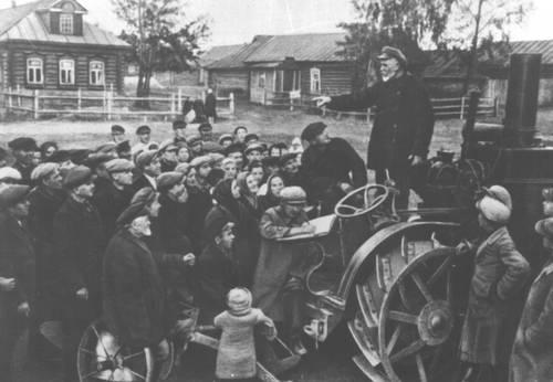 Объявление о колхозах среди крестьян, БССР, 1930 год