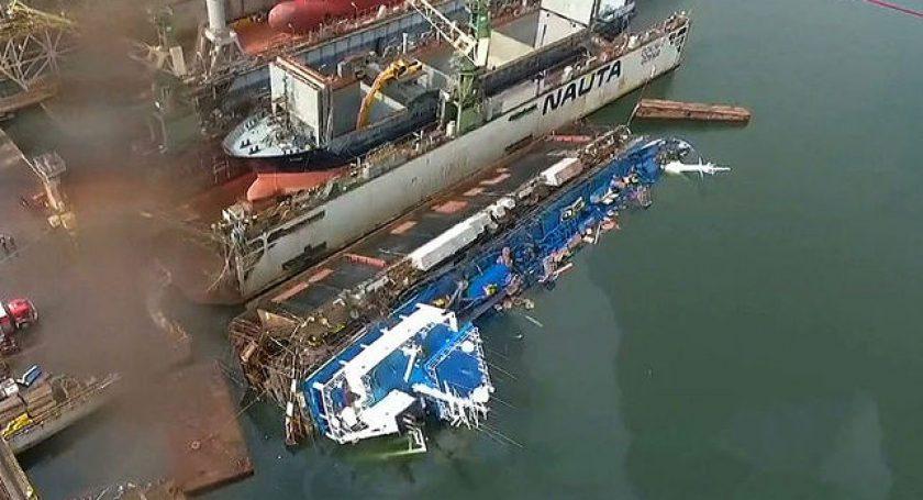 ВПольше затонул норвежский танкер снефтью