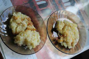 Картофельная запеканка в двух тарелках