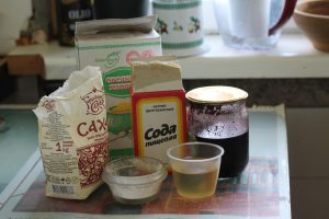 Остача продуктов на кухне перед «двадцатирублёвой» неделей