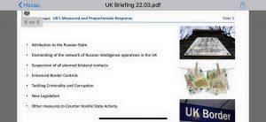 """Великобритания """"доказала"""" вину России по """"делу Скрипаля"""" презентацией из шести слайдов"""