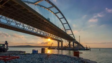 Керченский мост на закате