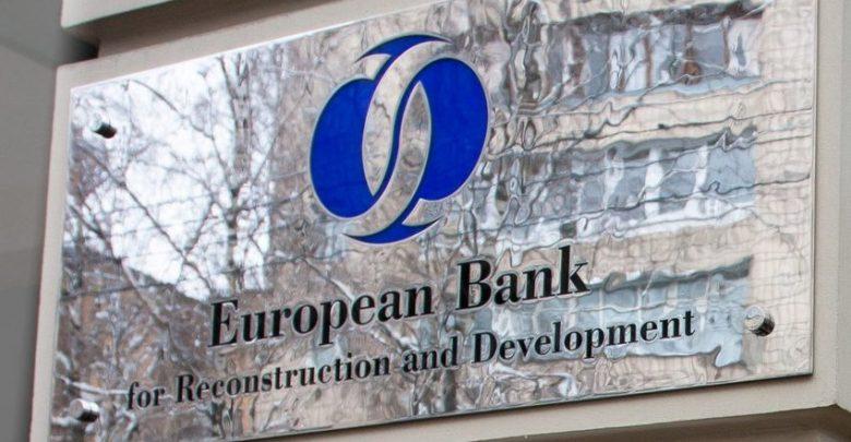 Хромированная табличка Европейского банка реконструкции и развития на английском языке