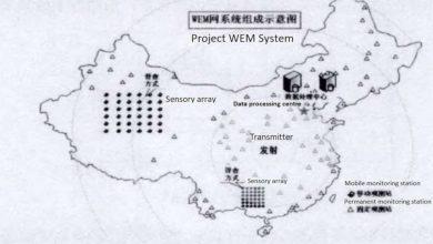 китайская карта антенного комплекса
