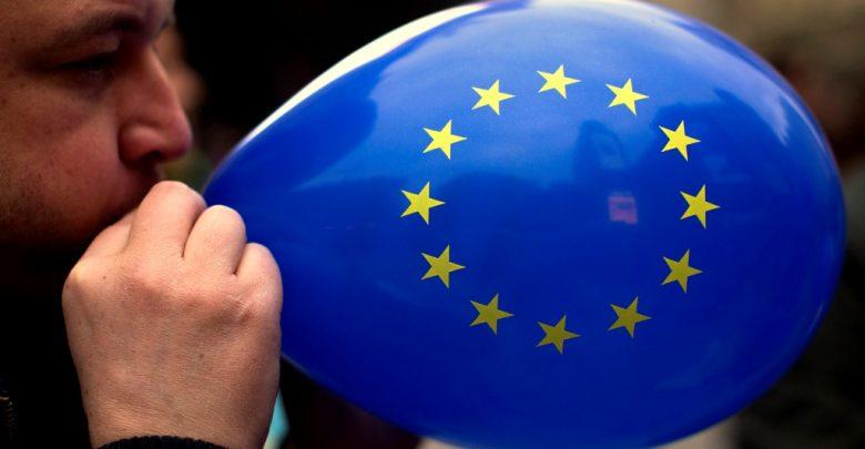 воздушный шарик с изображением флага европейского союза