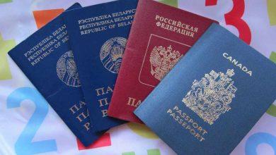 Паспорта Беларуси, России и Канады