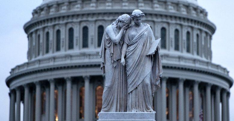 здание в Вашингтоне, правительство США, шатдаун