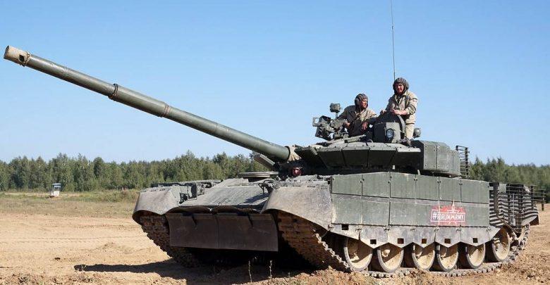 Фото танка Т-80БВМ на полигоне