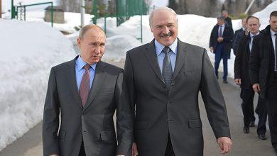 Путин и Лукашенко в образовательном центре Сириус в Сочи