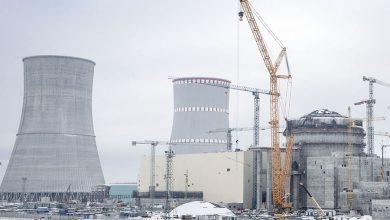 Строительство БелАЭС зимой