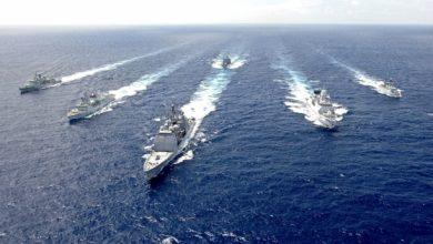 Корабли НАТО в море