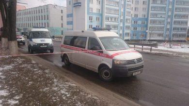 Микроавтобус саперов в Мозыре