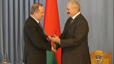Президент Беларуси Александр Лукашенко на встрече с главой Национального банка страны