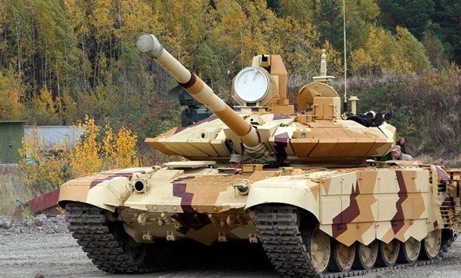 """Танк Т-90М """"прорыв"""" стоит на испытательном полигоне"""