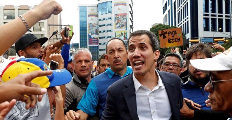 глава Национального собрания Боливарианской Республики и лидер оппозиции страны Хуан Гуайдо