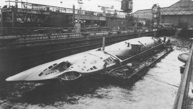 Всплытие немецкой подводной лодки времён Второй мировой войны - U23