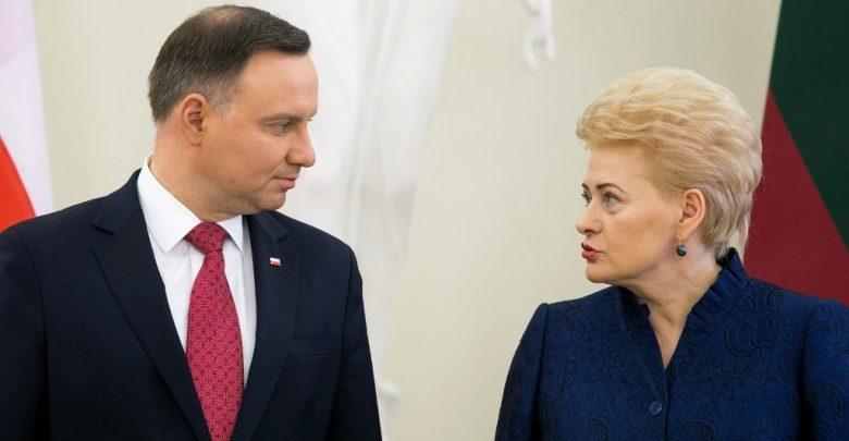 Президент Польши Анджей Дуда и Президент Литвы Даля Грибаускайте