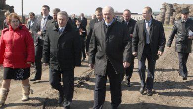 Лукашенко на льнозаводе