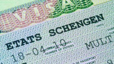 Надпись из шенгенской визы в паспорте