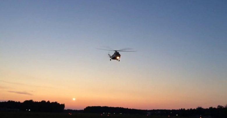 вертолёт в небе
