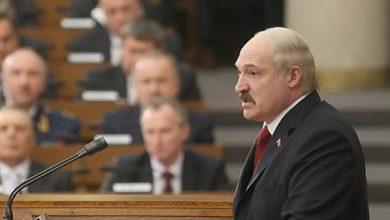 Александр Лукашенко выступает в прламенте Беларуси