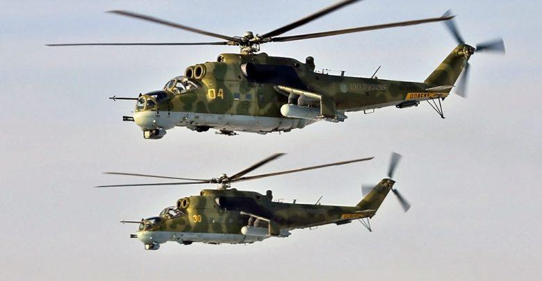 """Два вертолёта МИ 24 """"крокодил"""""""