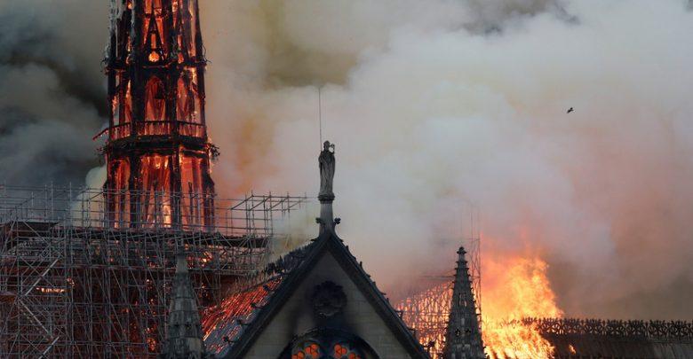 Горящий собор парижской Богоматери