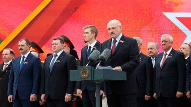 Лукашенко на параде в честь Дня Победы
