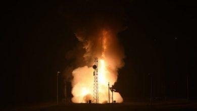 Запуск балистической ракеты