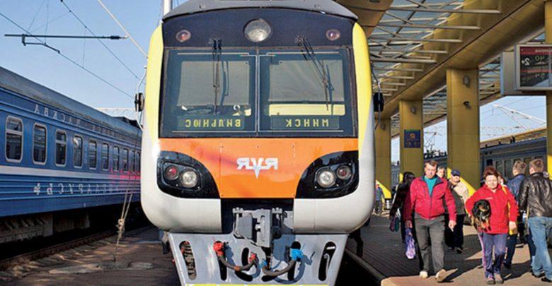 Поезд международного следования Минск Вильнюс