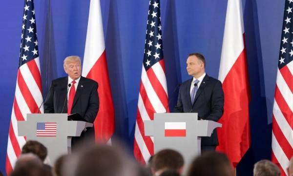Президент США и Польши