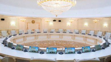 Зал для переговоров в рамках трёхсторонней контактной группы в Минске