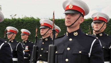 Военнослужащие Великобритании в пардном строю