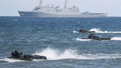 Корабли и десант НАТО в Балтийском море