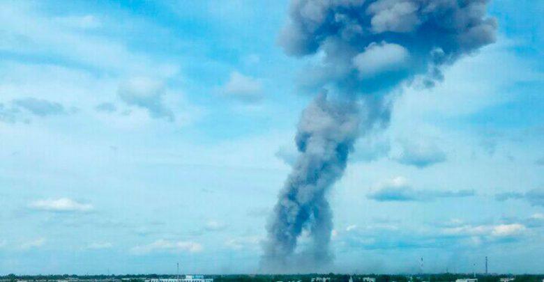 Кадры дыа от мощьного взрыва прогремевшего в Держинске