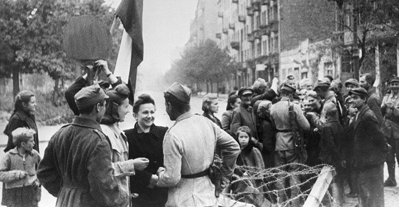 советские солдаты в Польше