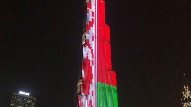 Photo of Самый высокий небоскрёб мира окрасился в цвета белорусского флага
