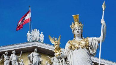 австрийский флаг в Вене