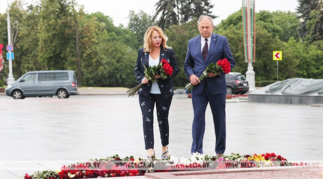 премьер-министр Беларуси Сергей Румас с женой