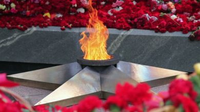 вечный огонь, цветы