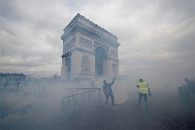 протесты в Европе