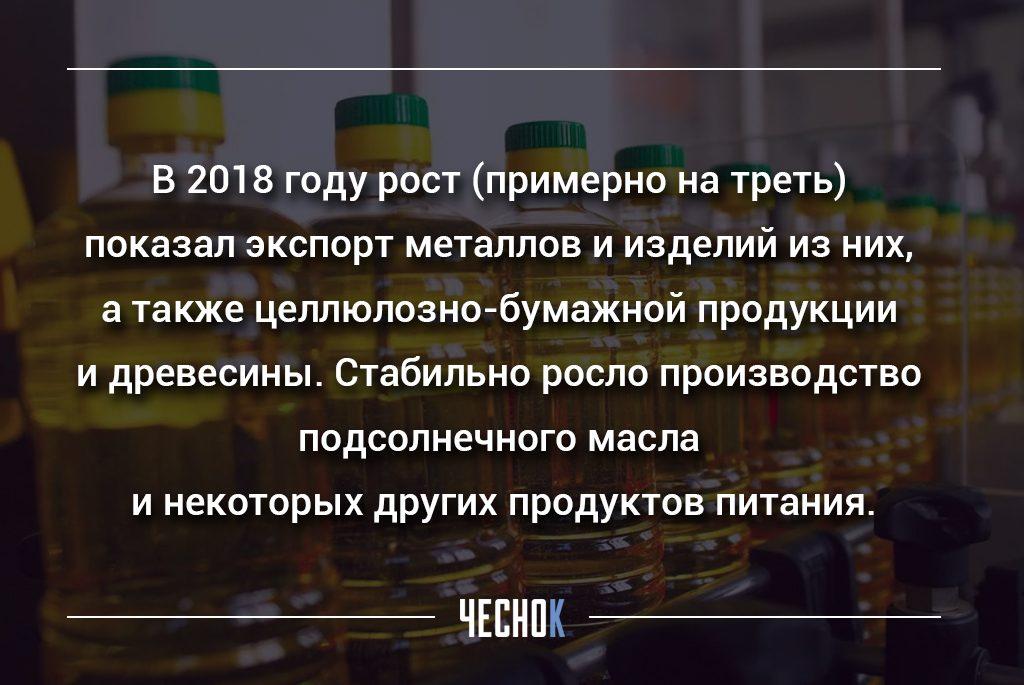 рост экспорта Украины в 2018 году