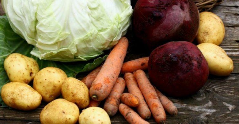 овощи, капуста, морковка, картофель, свекла