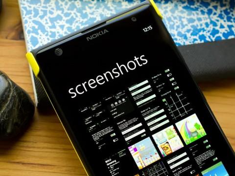 как сделать скриншоты на windows phone
