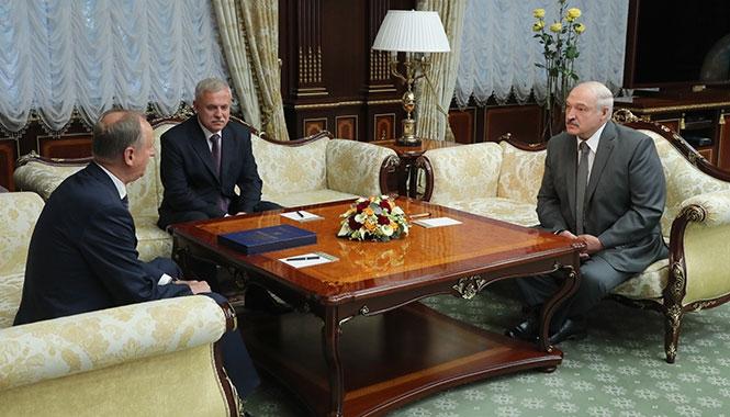 Президент Беларуси Александр Лукашенко провел 10 сентября встречу с секретарем Совета безопасности России Николаем Патрушевым