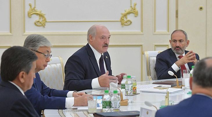 Лукашенко на саммите СНГ