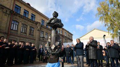 Церемония открытия памятника Пушкину в Бресте