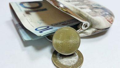 Кршелёк с деньгами и монетами