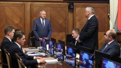 Заседание правителсьтва Беларуси во главе с Румасом